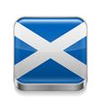 Metal icon of Scotland vector image vector image