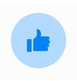 modern thumbs up circle icon on white vector image vector image