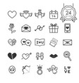 monochrome signs and symbols line icons set vector image