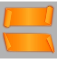 orange curved banners vector image vector image