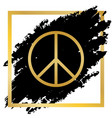peace sign golden icon at vector image vector image