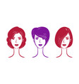 portrait beautiful girl or young woman vector image vector image