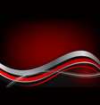 red and silver and black color geometric wave vector image vector image