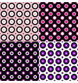 seamless geometric circle pattern design vector image vector image