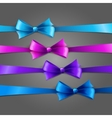 Set of color bow vector image vector image