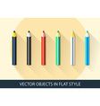 Set of pencil icon in a flat style with shadow vector image