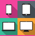 set of techniques in flat phones tablets monitors vector image