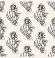 skeleton hand with rose seamless pattern vector image