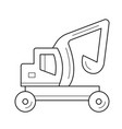 skid steer loader line icon vector image vector image