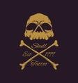 skull badges vector image vector image
