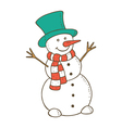 snowman colored vector image