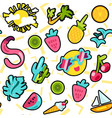 summer color seamless cartoon pattern vector image