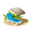Summer vacation on the beach vector image