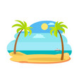 sun and recreation on beach vector image vector image