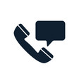 support phone with speech bubble icon vector image vector image