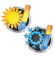 thermometer sun and snowflake vector image vector image