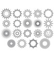 thin line collection of suns vector image