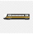 urban passenger train icon cartoon style vector image vector image