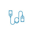 usb cord linear icon concept usb cord line vector image vector image