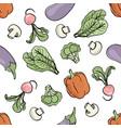 vegetarian mix paleo seamless pattern vector image