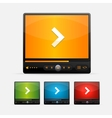 Video Player Skin colour set vector image