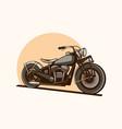 vintage motorcycle chopper minimalist vector image