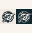 vintage tattoo studio monochrome round print vector image vector image