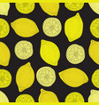 violet seamless pattern with lemons vector image vector image