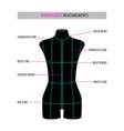 woman body black mannequin vector image vector image