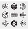 set of vintage wedding badges sings logos vector image