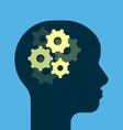 Gears working brain vector image