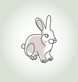 Rabbit in minimal line style vector image