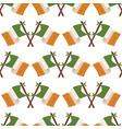 irish flag seamless pattern vector image