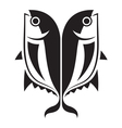 graphic fish vector image