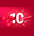 10th anniversary celebration banner template vector image