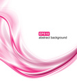 Abstract background Pink waves on white background vector image vector image