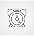 alarm clock icon sign symbol vector image