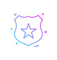badge star icon design vector image vector image