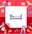 bed line icon vector image