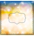 Card with decorative frames on bokeh lights vector image