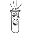 Cartoon test tube vector image vector image