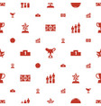 championship icons pattern seamless white vector image vector image