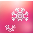 Christmas snowflake on pink purple EPS8 vector image vector image
