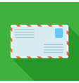Colorful letter mail icon in modern flat style vector image