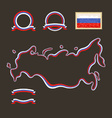 Colors of Russia with Crimea vector image vector image