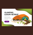 comfortable modern tent poster vector image