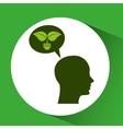 concept environment silhouette head bulb plant vector image