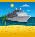 cruise resort vector image vector image