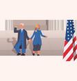 democrat winner united states presidential vector image