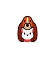 dog cat pet cartoon logo icon vector image